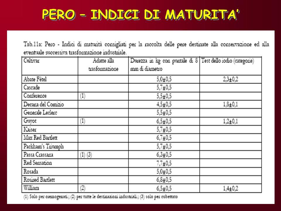 PERO – INDICI DI MATURITA'