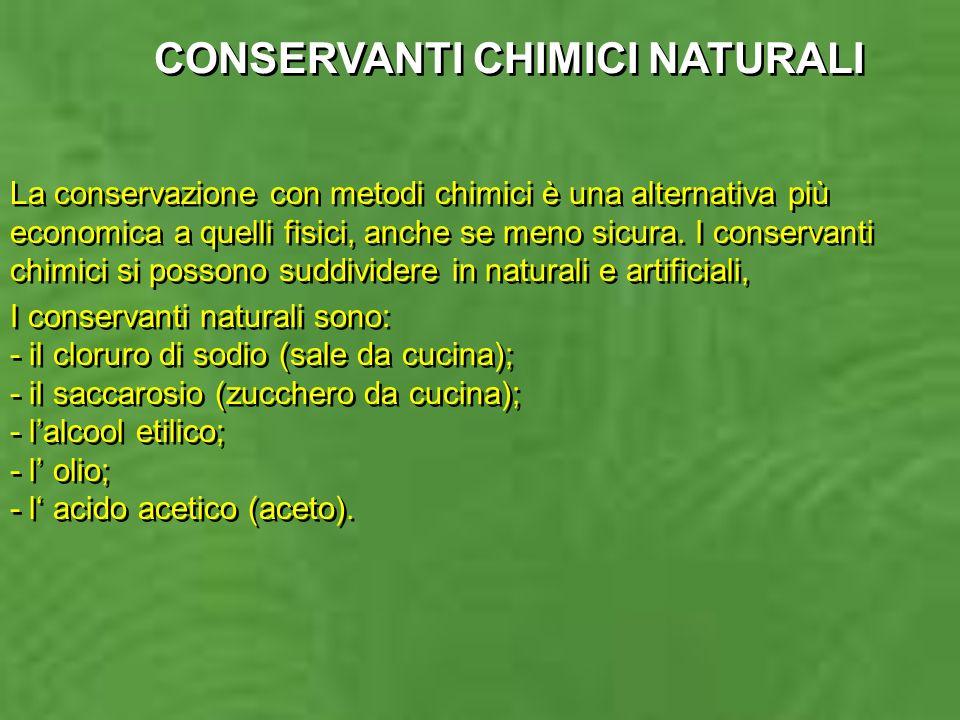 CONSERVANTI CHIMICI NATURALI