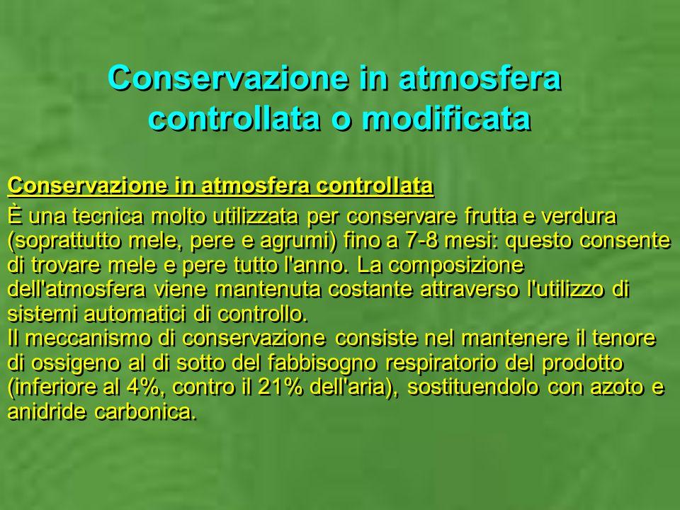 Conservazione in atmosfera controllata o modificata