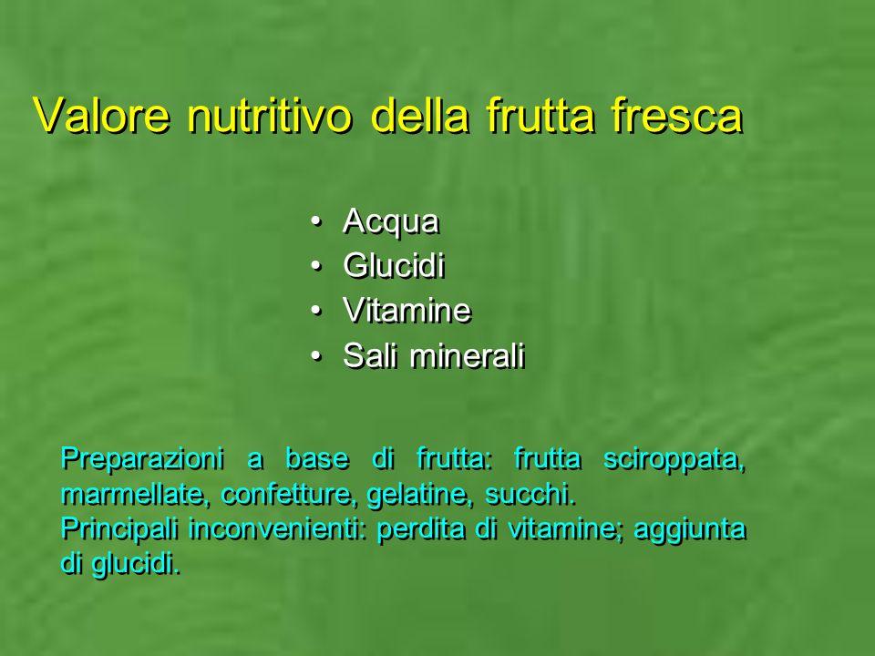Valore nutritivo della frutta fresca