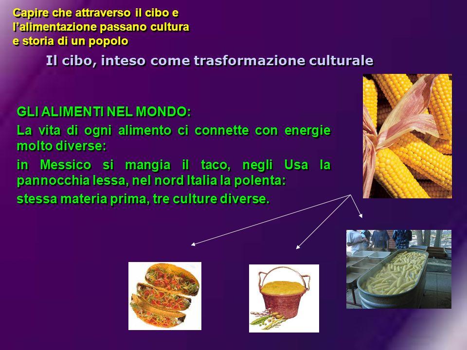 Il cibo, inteso come trasformazione culturale