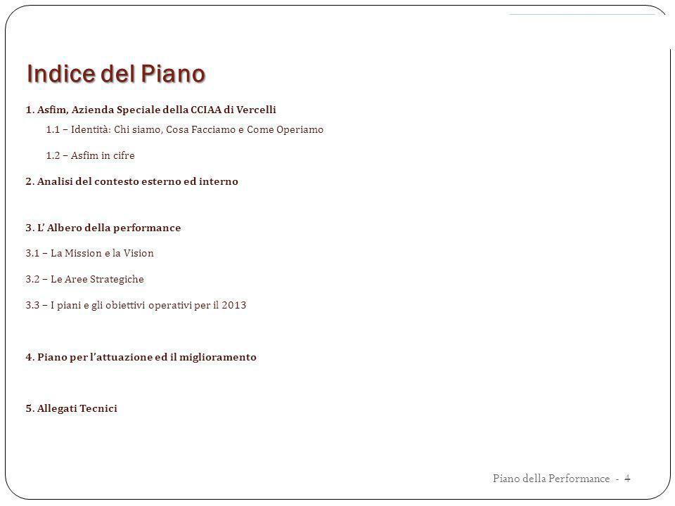 Indice del Piano Piano della Performance - 4