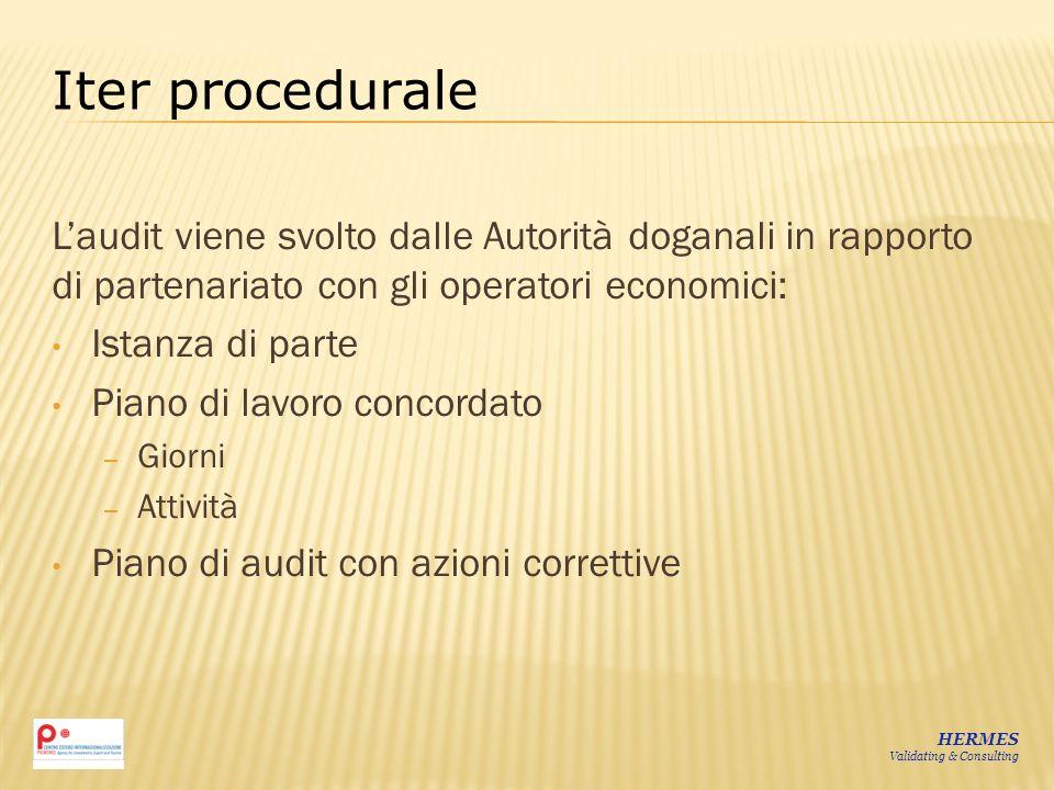 Iter procedurale L'audit viene svolto dalle Autorità doganali in rapporto di partenariato con gli operatori economici: