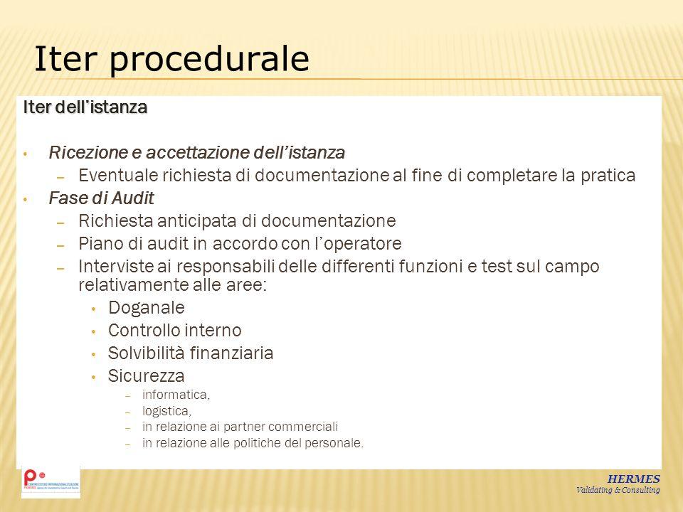 Iter procedurale Iter dell'istanza