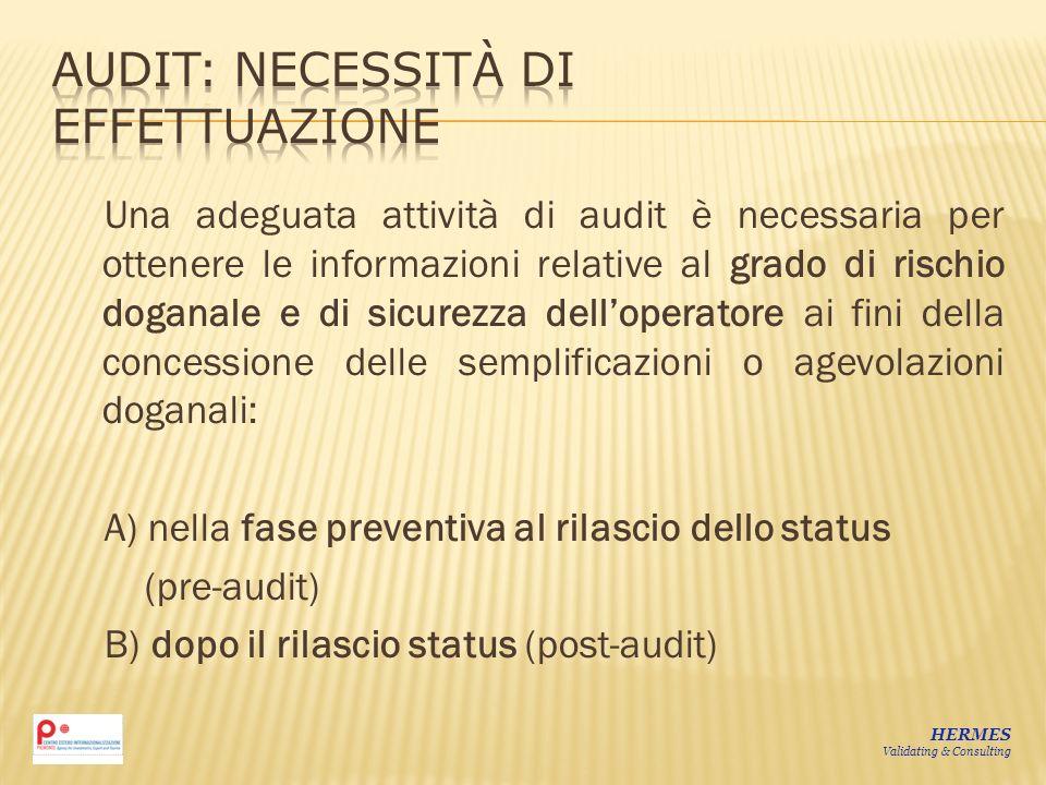 Audit: necessità di effettuazione