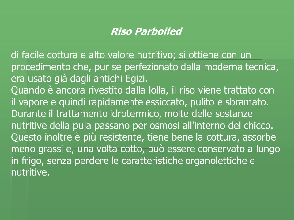 Riso Parboiled