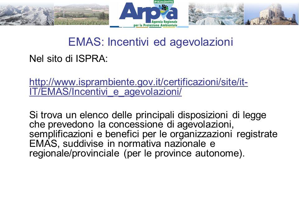 EMAS: Incentivi ed agevolazioni