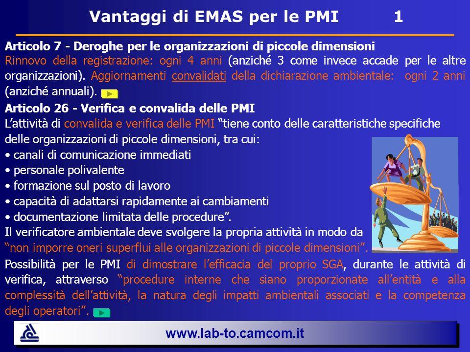 Vantaggi di EMAS per le PMI 1
