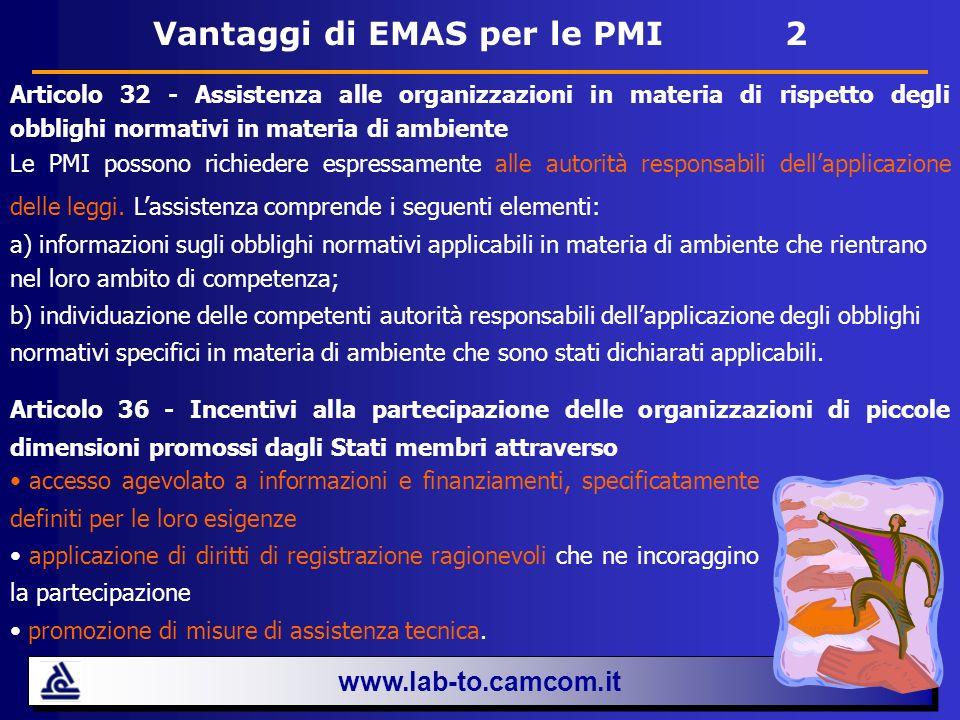 Vantaggi di EMAS per le PMI 2