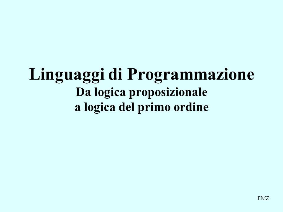 Linguaggi di Programmazione Da logica proposizionale a logica del primo ordine