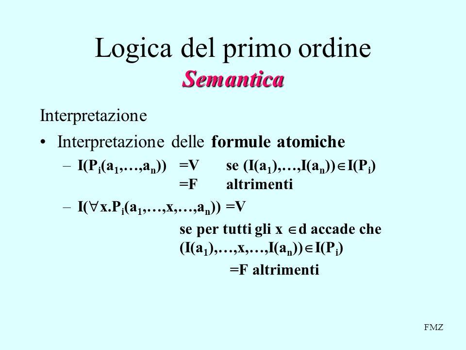 Logica del primo ordine Semantica