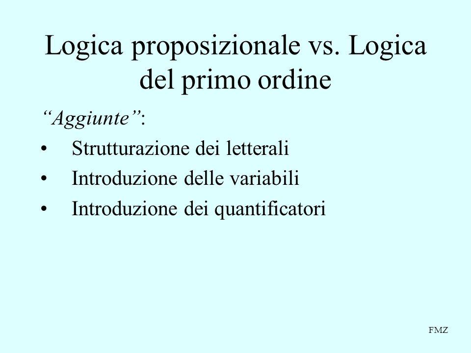 Logica proposizionale vs. Logica del primo ordine
