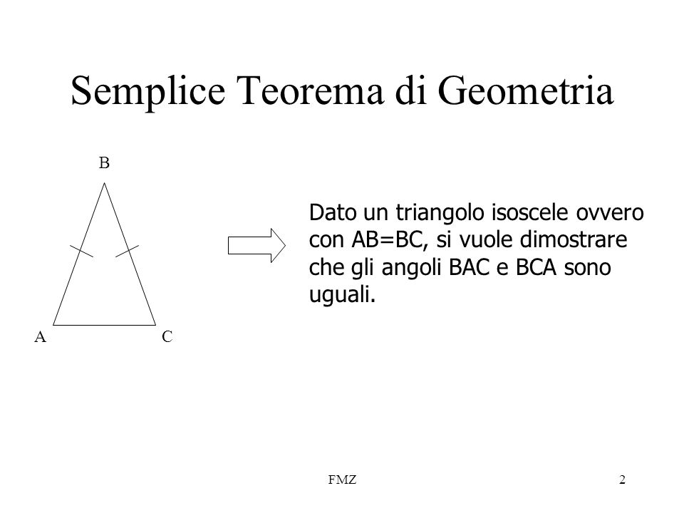 Semplice Teorema di Geometria