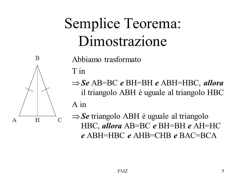 Semplice Teorema: Dimostrazione