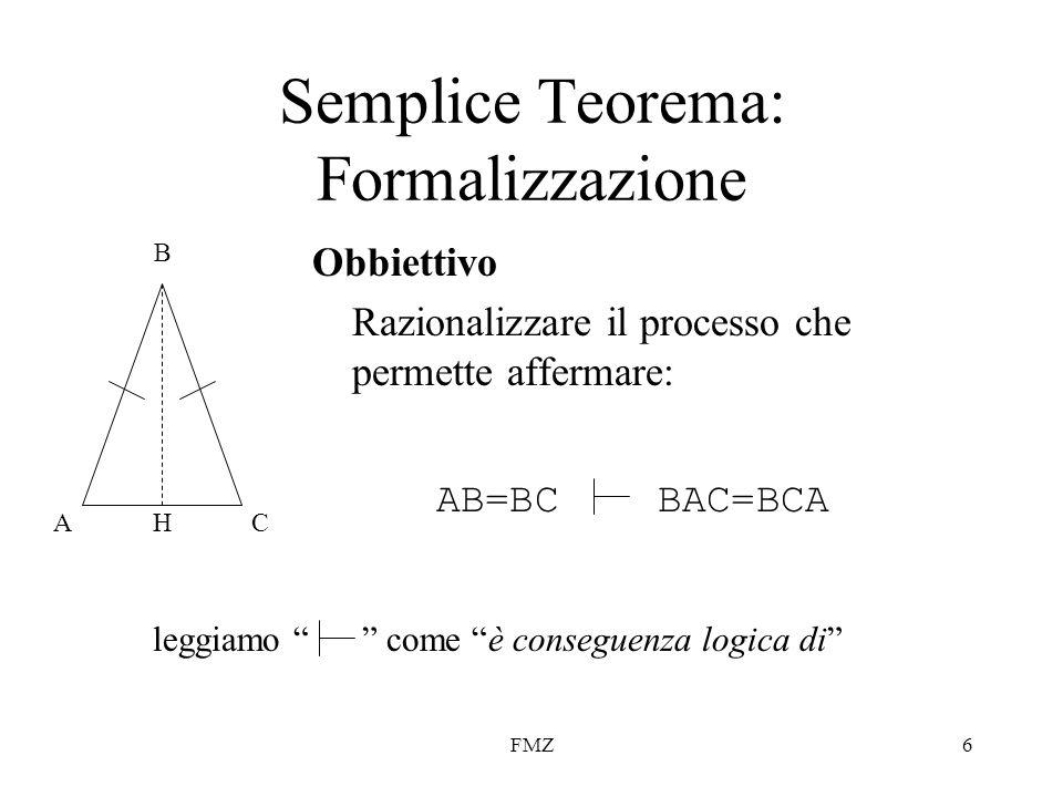 Semplice Teorema: Formalizzazione