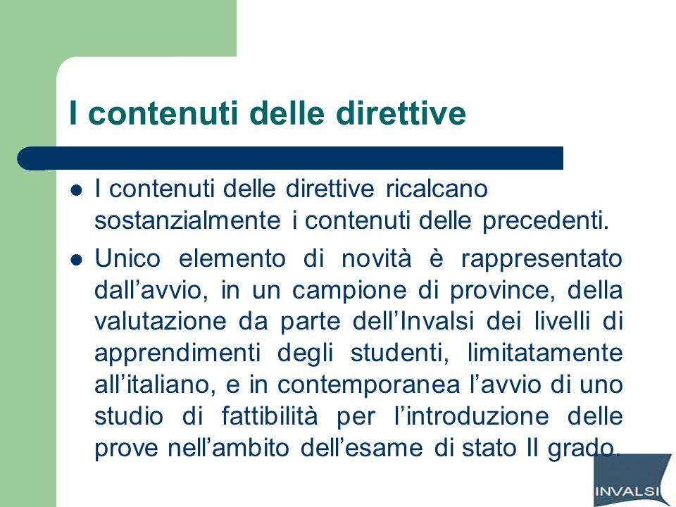 I contenuti delle direttive
