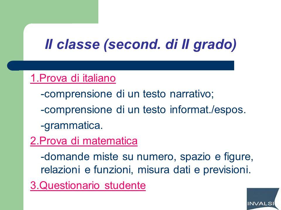 II classe (second. di II grado)