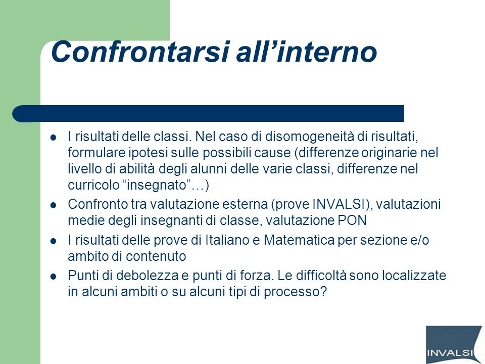 Confrontarsi all'interno