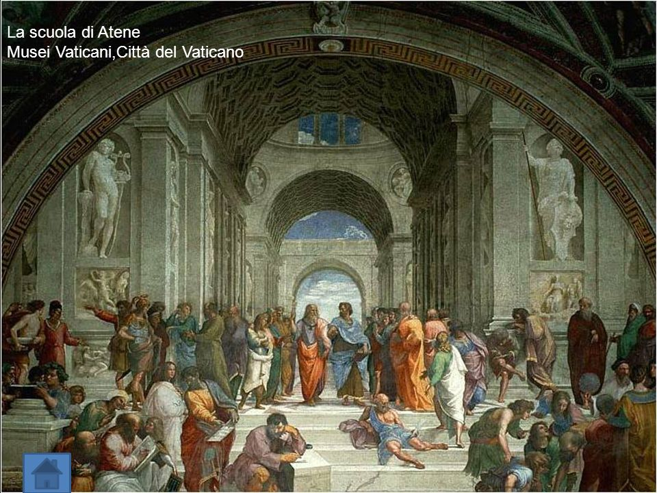 La scuola di Atene Musei Vaticani,Città del Vaticano.