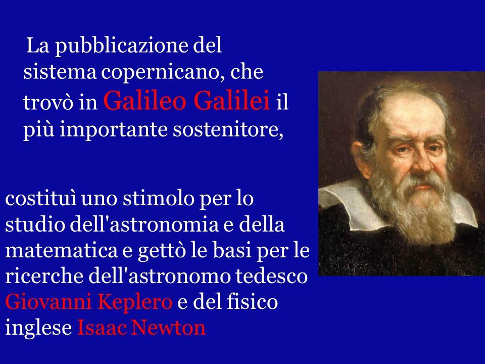 La pubblicazione del sistema copernicano, che trovò in Galileo Galilei il più importante sostenitore,
