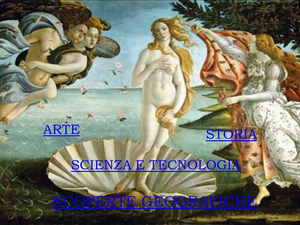 ARTE STORIA SCIENZA E TECNOLOGIA SCOPERTE GEOGRAFICHE