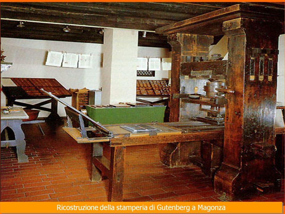 Nel 1450,il tedesco Giovanni Gutenberg, nato a Magonza ideò il sistema di stampa detto