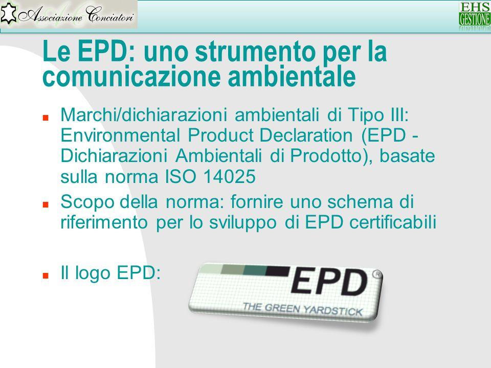 Le EPD: uno strumento per la comunicazione ambientale