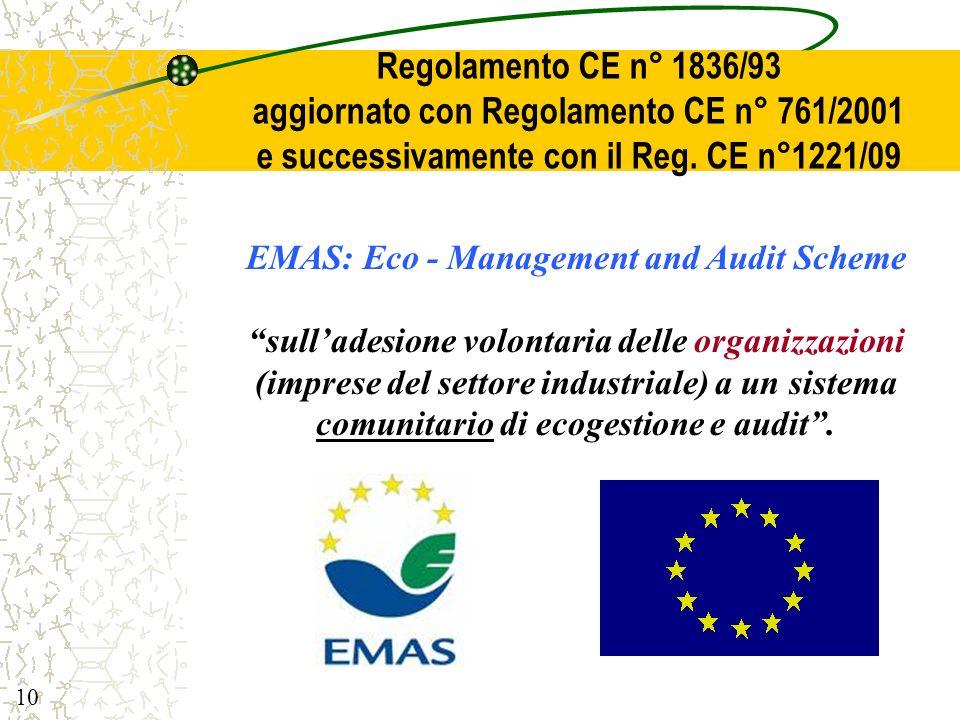 aggiornato con Regolamento CE n° 761/2001