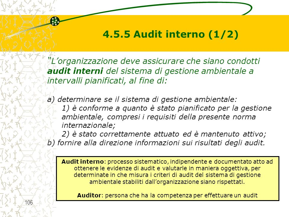 Auditor: persona che ha la competenza per effettuare un audit