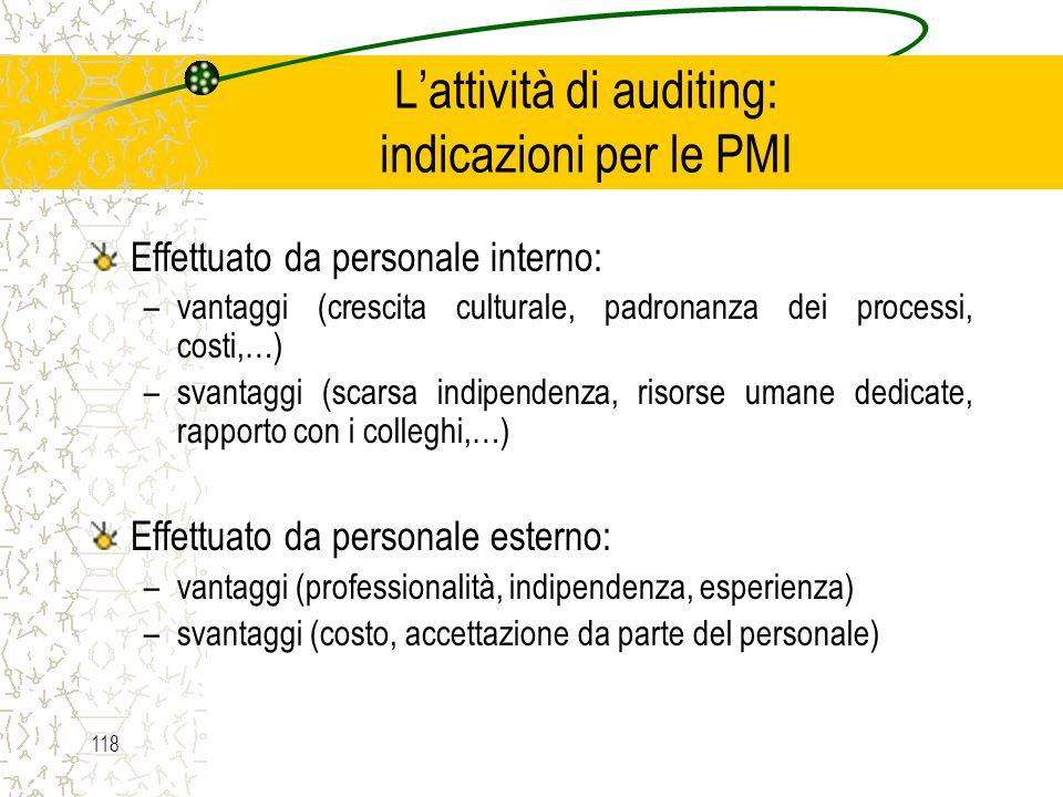 L'attività di auditing: indicazioni per le PMI