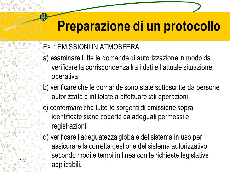 Preparazione di un protocollo