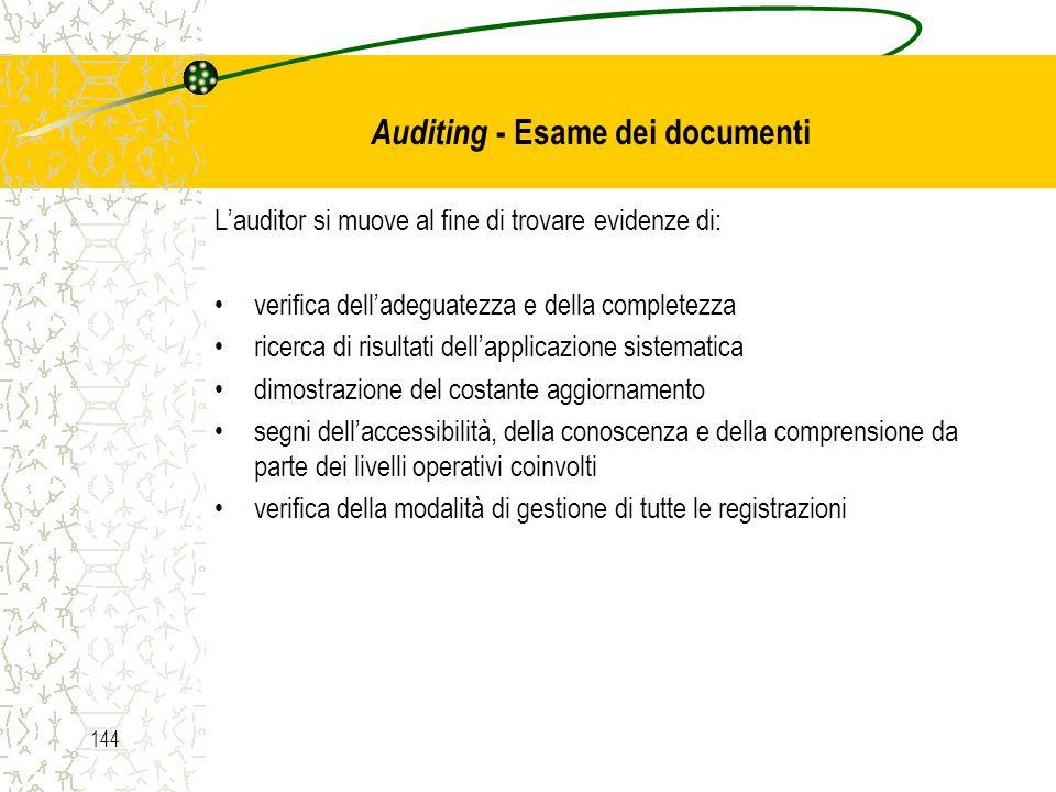 Auditing - Esame dei documenti