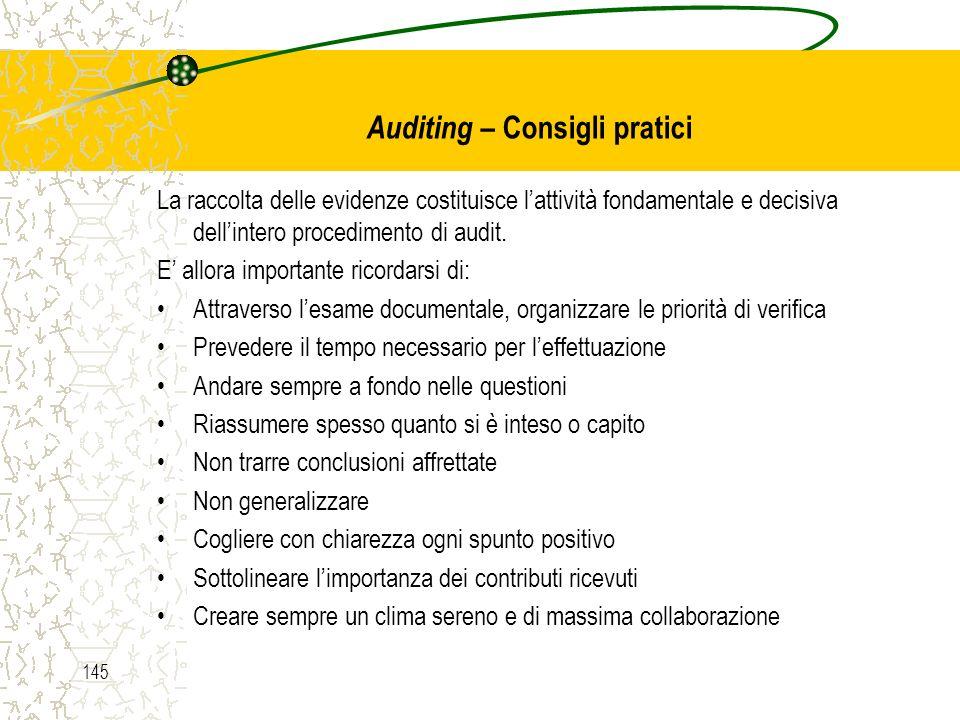 Auditing – Consigli pratici