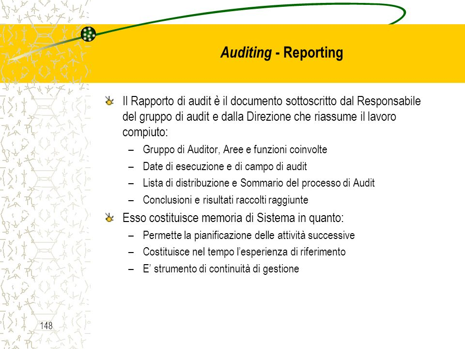 Auditing - Reporting