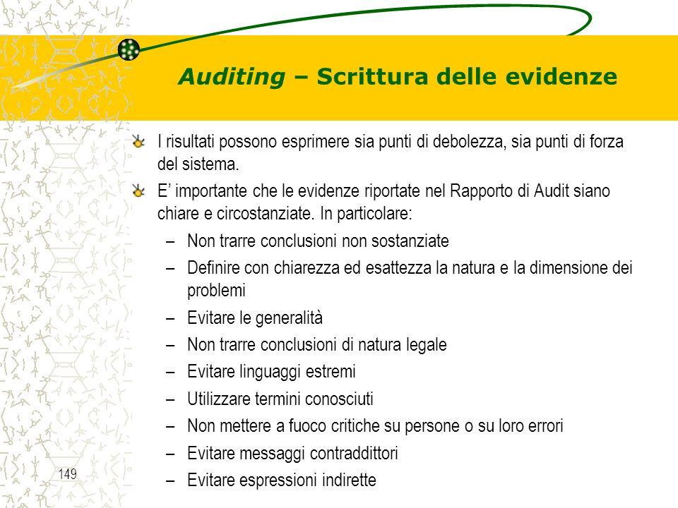 Auditing – Scrittura delle evidenze