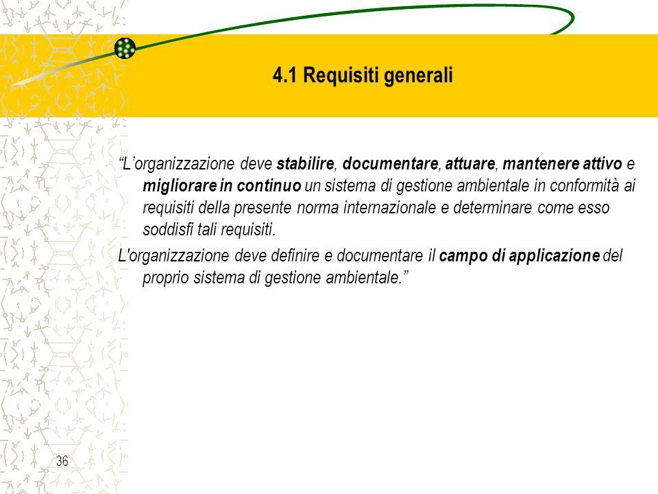 4.1 Requisiti generali