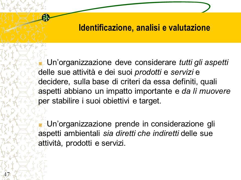 Identificazione, analisi e valutazione