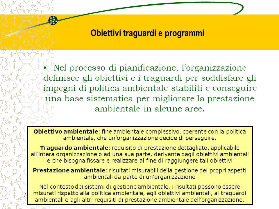 Obiettivi traguardi e programmi