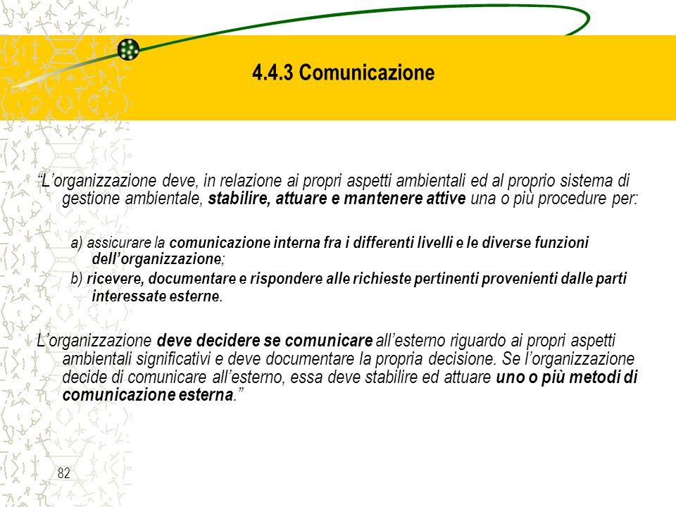 4.4.3 Comunicazione