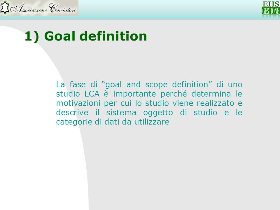 Goal definition