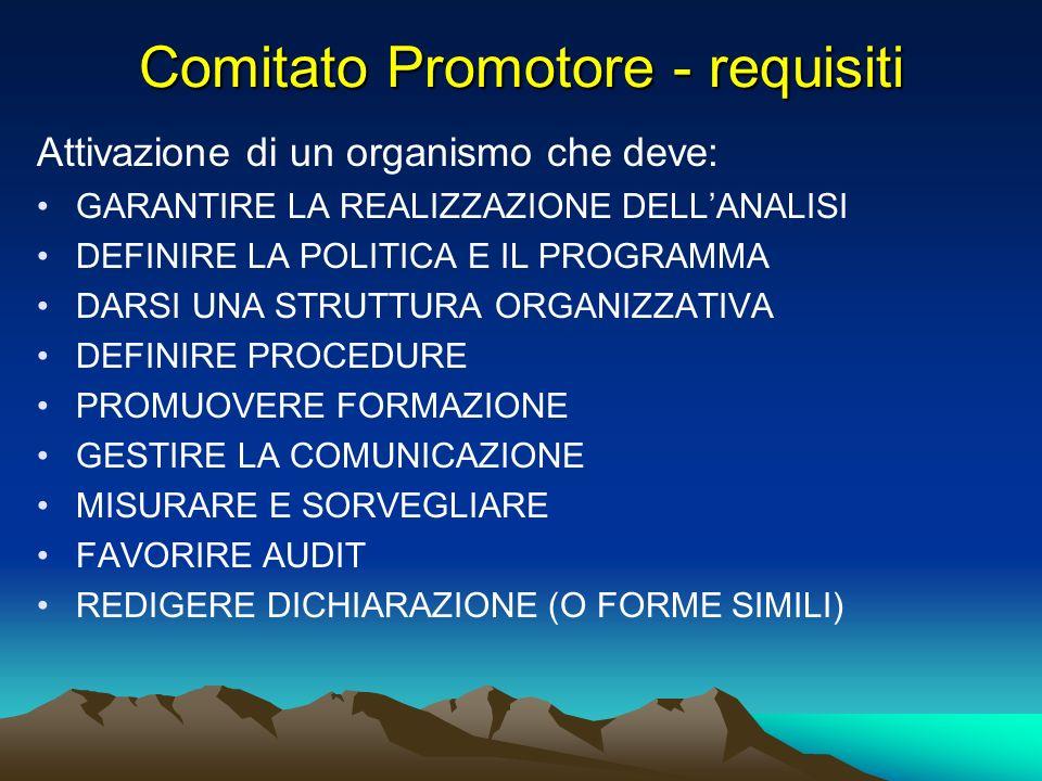 Comitato Promotore - requisiti