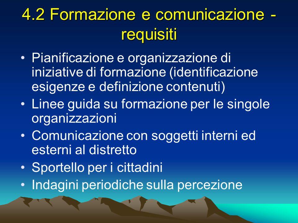 4.2 Formazione e comunicazione - requisiti