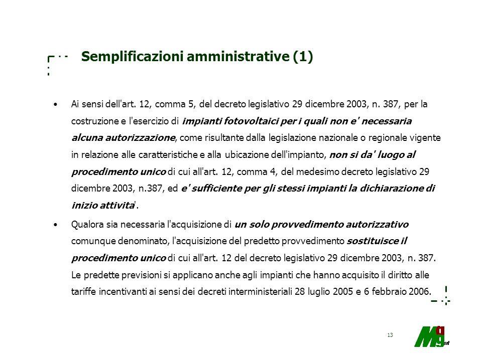 Semplificazioni amministrative (1)