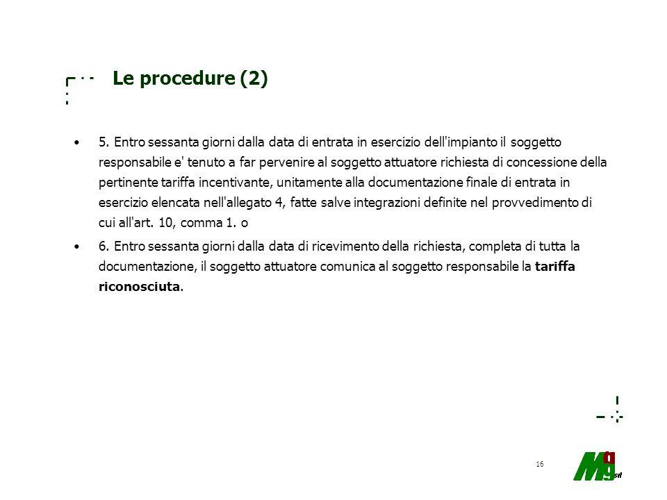 Le procedure (2)