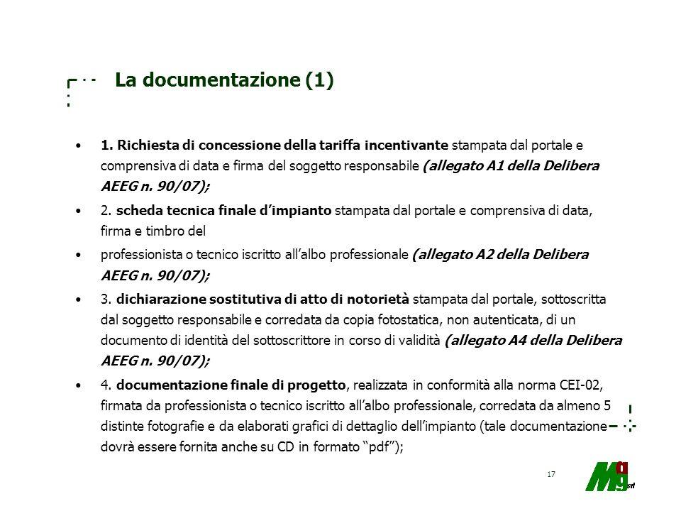 La documentazione (1)