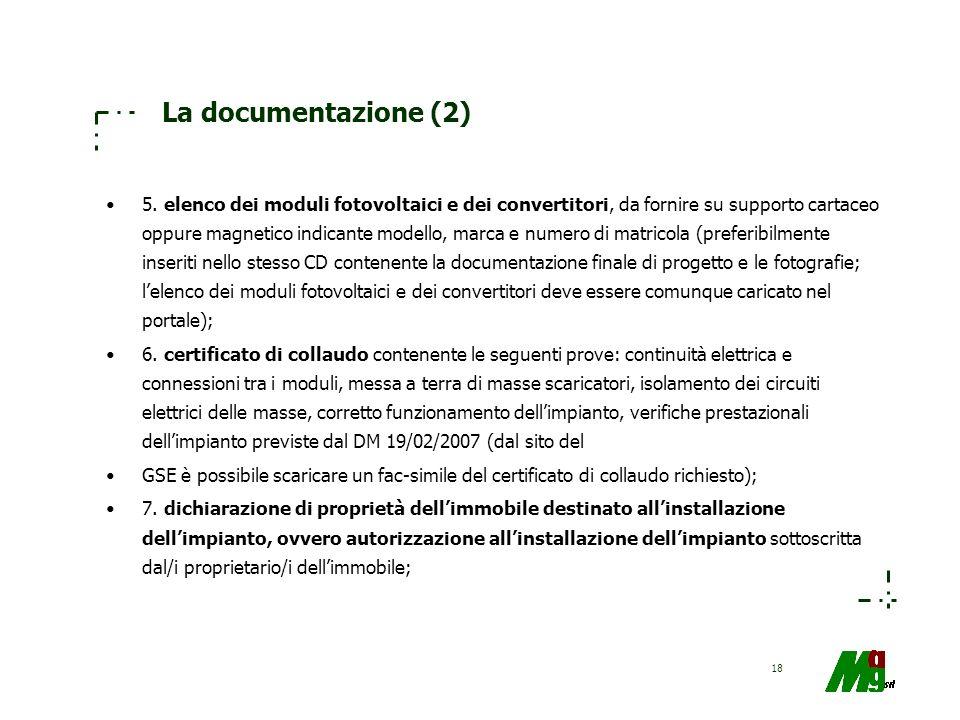La documentazione (2)