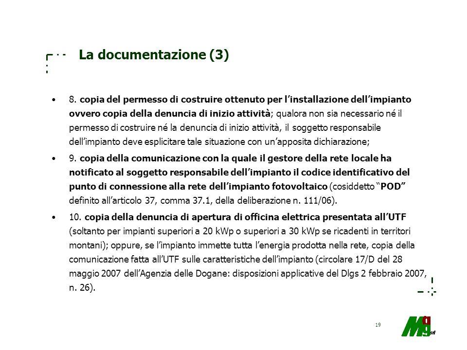 La documentazione (3)