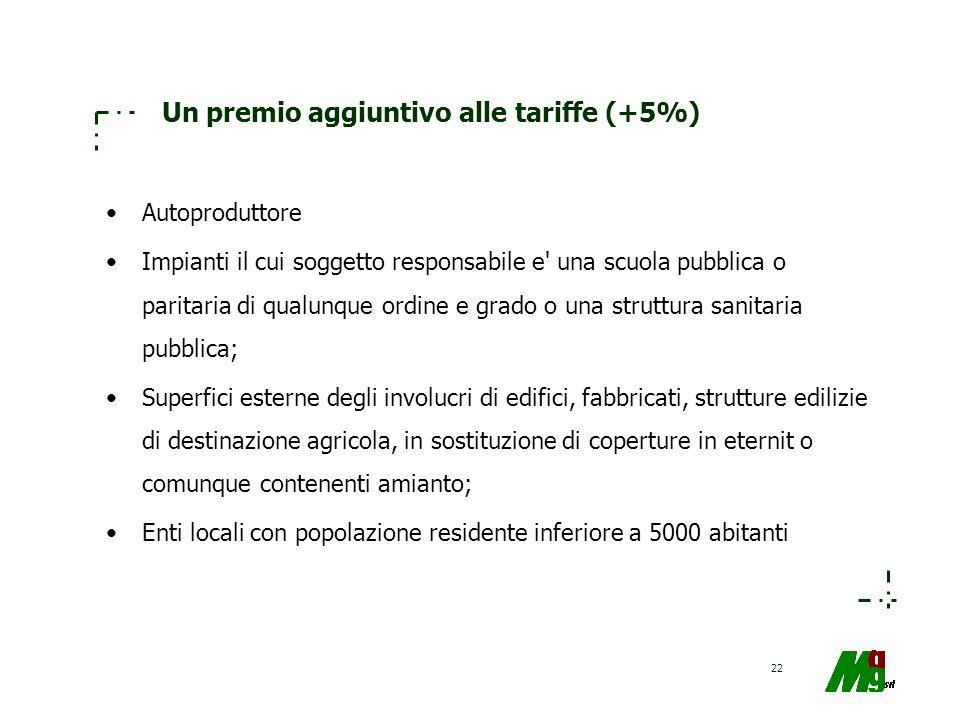 Un premio aggiuntivo alle tariffe (+5%)