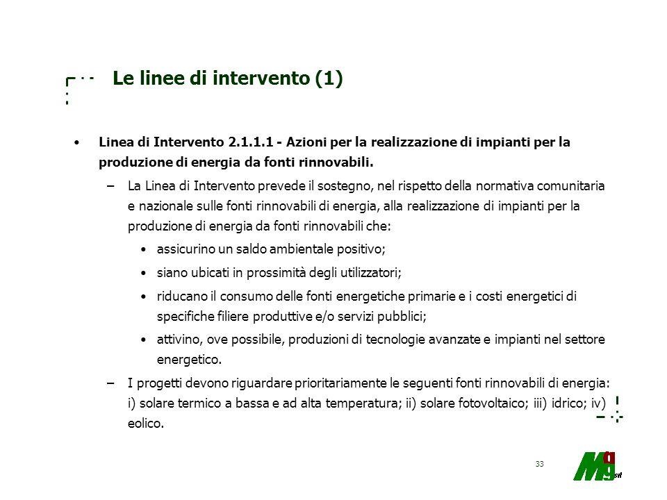 Le linee di intervento (1)