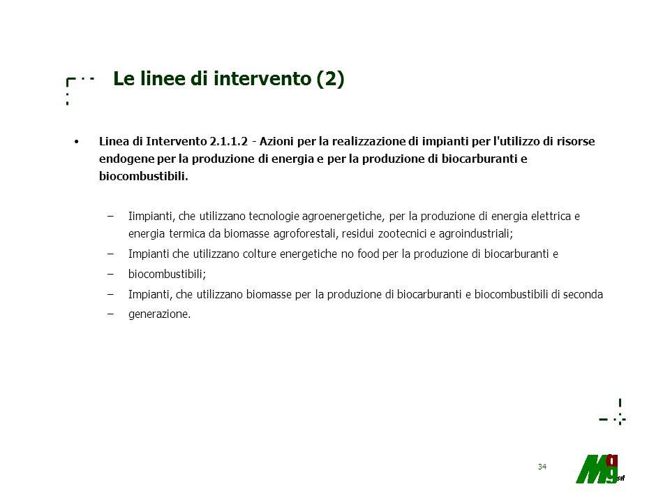 Le linee di intervento (2)